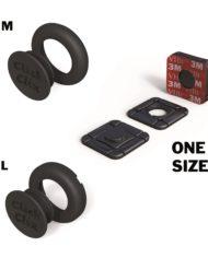 Pack M + L + Adhesivo Especial negro